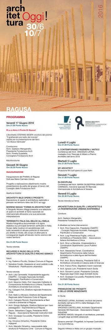 Programma Architettura OGGI 2016-1